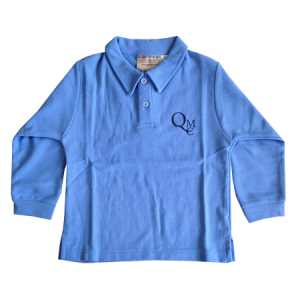 QMC Preschool Long Sleeve Polo Sky