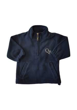 QMC Kids Microfleece Half Zip Navy