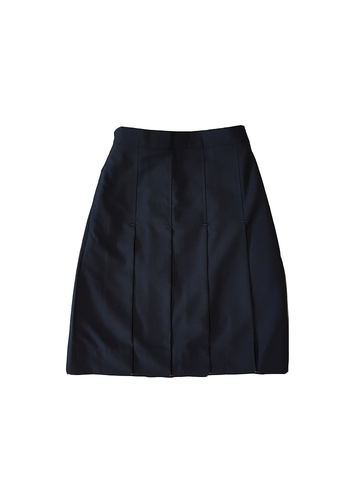 Queen Margaret Snr/Mdle Full Back Elastic Skirt Navy