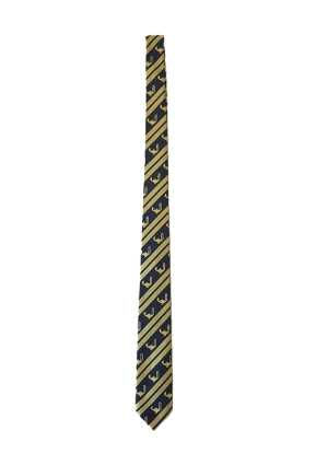 Queen Margaret College Year 13 Tie Navy/Gold