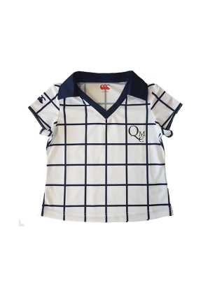 QMC Youth Sports Mesh PE Top White/Navy