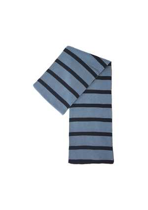 Queen Margaret College Striped Scarf Sky/Navy
