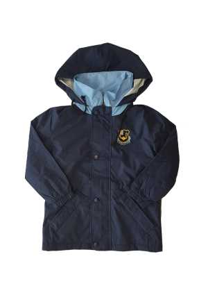 Queen Margaret College Anorak Navy/Sky